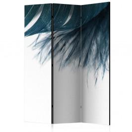 Paraván Dark Blue Feather Dekorhome 135x172 cm (3-dielny)