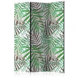 Paraván Wild Leaves Dekorhome 135x172 cm (3-dielny)