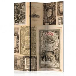 Paraván Vintage Books Dekorhome 135x172 cm (3-dielny)