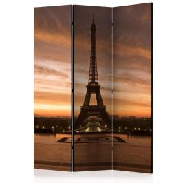 Paraván Evening Colours of Paris Dekorhome 135x172 cm (3-dielny)