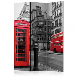 Paraván London Icons Dekorhome 135x172 cm (3-dielny)