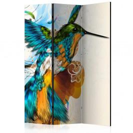 Paraván Bird's Music Dekorhome 135x172 cm (3-dielny)