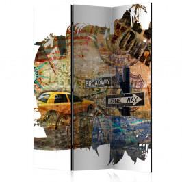 Paraván New York Collage Dekorhome 135x172 cm (3-dielny)