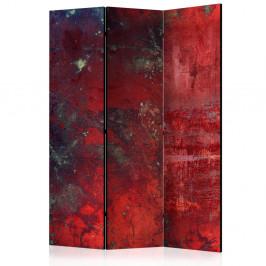 Paraván Red Concrete Dekorhome 135x172 cm (3-dielny)
