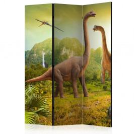 Paraván Dinosaurs Dekorhome 135x172 cm (3-dielny)