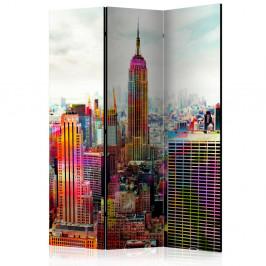 Paraván Colors of New York City Dekorhome 135x172 cm (3-dielny)