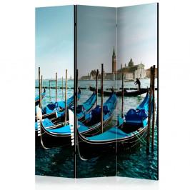Paraván Gondolas on the Grand Canal Venice Dekorhome 135x172 cm (3-dielny)