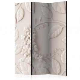 Paraván Paper Flowers (Cream) Dekorhome 135x172 cm (3-dielny)