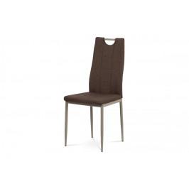 Jedálenská stolička DCL-393 BR2 hnedá / cappuccino Autronic