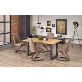 Jedálenský stôl PEREZ rozkladací 160/250 dub svetlý / čierna Halmar