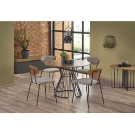 Jedálenský stôl BRISTOL 110 cm orech / čierna Halmar