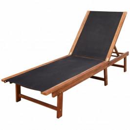 Záhradné ležadlo z akáciového dreva / textilen