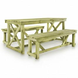 Záhradný pivný set FSC drevo Dekorhome