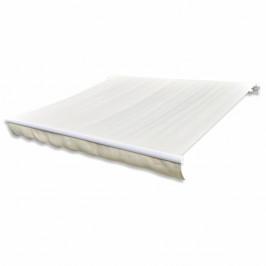 Plachta na markízu 436 x 296 cm plátená Krémová