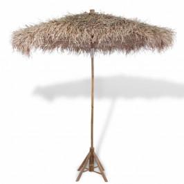 Bambusový slnečník so strechou z banánových listov Ø 210 cm