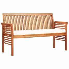 Záhradná lavica 150cm akáciové drevo Dekorhome Krémová