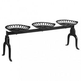 Liatinová záhradné lavička čierna Dekorhome