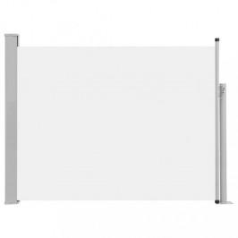 Zaťahovací bočná markíza 140x500 cm Dekorhome Krémová
