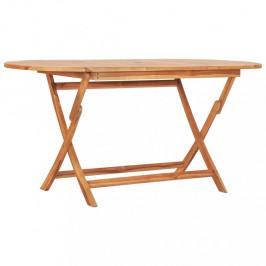 Skladací záhradný stôl teakové drevo Dekorhome