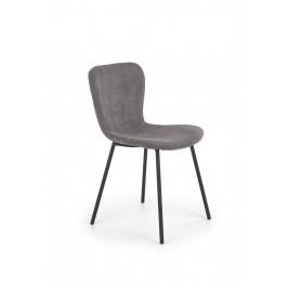 Jedálenská stolička K414 menčester sivá Halmar