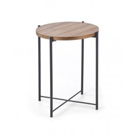 Odkladací stolík TANAKA S orech / čierna Halmar