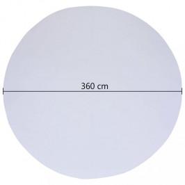 Bazénová podložka biela geotextílie Dekorhome ø 360 cm