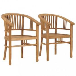 Záhradné stoličky 2 ks teakové drevo Dekorhome