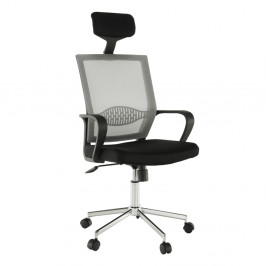 Kancelárske kreslo DAKIN sivá / čierna / chróm Tempo Kondela