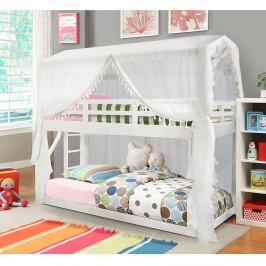 Montessori poschodová posteľ ZEFIRE biela Tempo Kondela