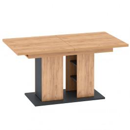 Rozkladací jedálenský stôl FIDEL dub craft zlatý / grafit sivá Tempo Kondela