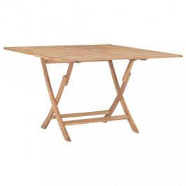 Skladací záhradný stôl 120x120 cm teakové drevo Dekorhome