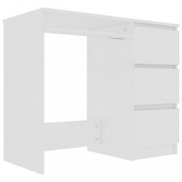 Písací stôl so zásuvkami 90x45 cm Dekorhome Biela