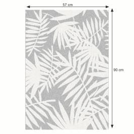 Koberec INTISAR sivá / biela Tempo Kondela 57x90 cm