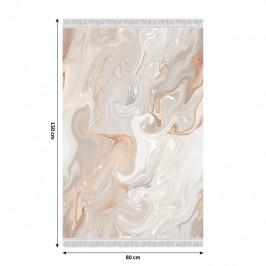 Koberec so strapcami RENOX TYP 2 béžová / krémová / biela Tempo Kondela 80x150 cm