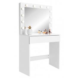 Toaletný stolík s LED osvetlením biela