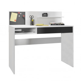 Písací stôl s magnetickou tabuľou IMAN biela / čierna Tempo Kondela