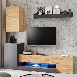 LED osvetlenie k obývacej stene DULA modrá Tempo Kondela