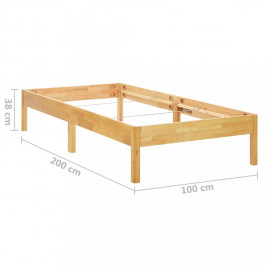 Posteľ masívne drevo Dekorhome 100x200 cm