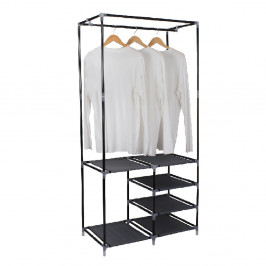 Stojan na šaty EFREN kov / čierna látka Tempo Kondela