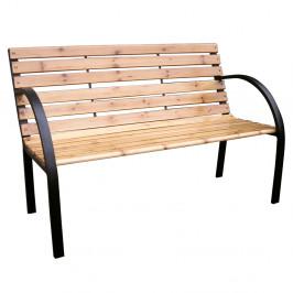 Záhradná lavička LACEA drevo / kov Tempo Kondela