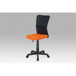 Detská kancelárska stolička KA-2325 látka / plast Autronic Oranžová
