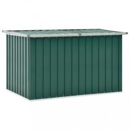 Záhradný úložný box 149x99x93 cm oceľ Dekorhome Zelená