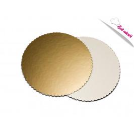 Tortová podložka zlatá kruh 26 cm - Artigian