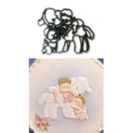 Patchwork vypichovač Deti s jahniatkom - Lamb & Babies - Patchwork Cutters