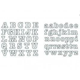 Patchwork vytlačovač Tučná abeceda - Tubby Alphabet - Patchwork Cutters
