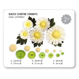 Sada na stredy kvetov (Daisy Center Stamps) - JEM