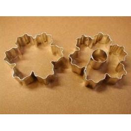 Sada formičiek - kvetinky vrúbkované veľké 2ks - Felcman