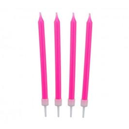 Narozeninové svíčky 8,6 cm 10 ks růžové - GoDan