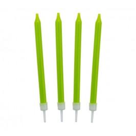Narodeninové sviečky 8,6 cm 10 ks zelené - GoDan