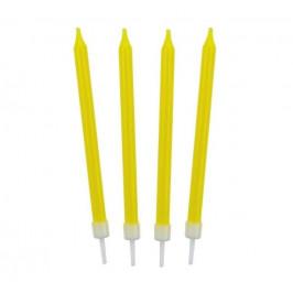 Narodeninové sviečky 8,6 cm 10 ks žlté -